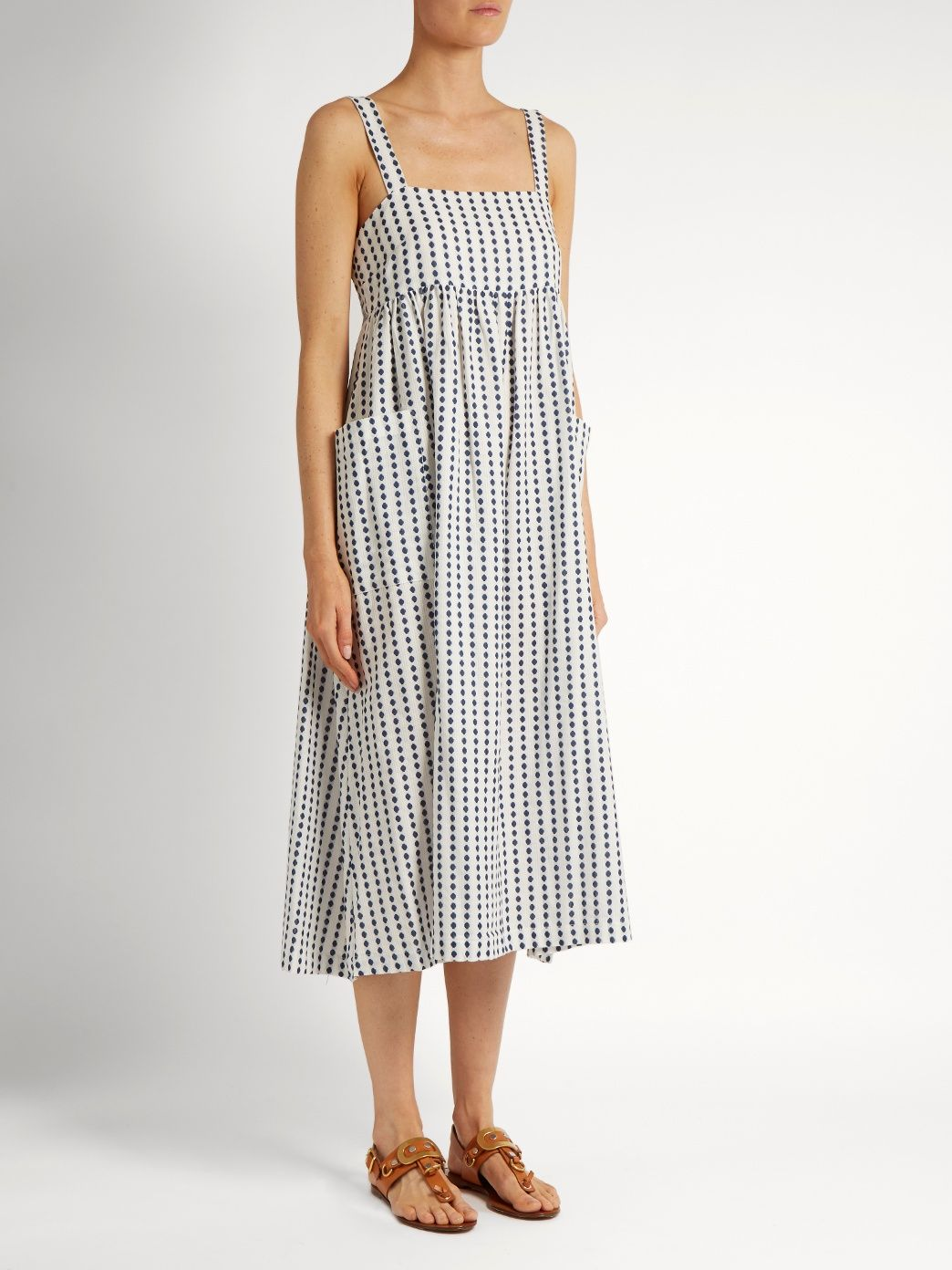 Polka-dot cotton midi dress | Mara Hoffman | MATCHESFASHION.COM