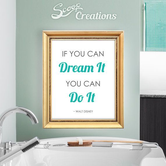 Walt Disney Quotes - Dream It, Do It, Inspirational Typography Illustration wall art by ScoopCreations