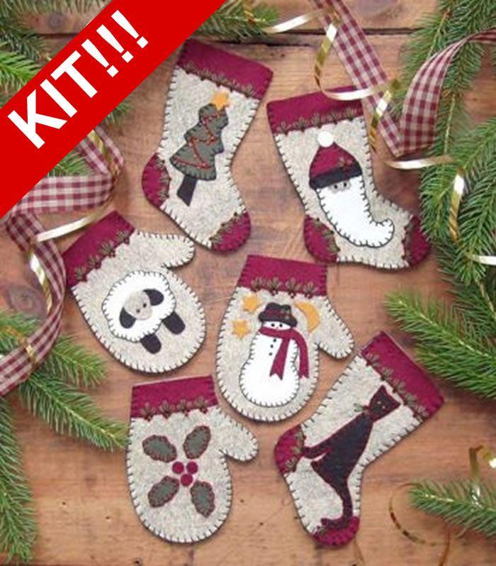 Christmas Woolens Kit ROG-0803K (advanced beginner, embroidery)