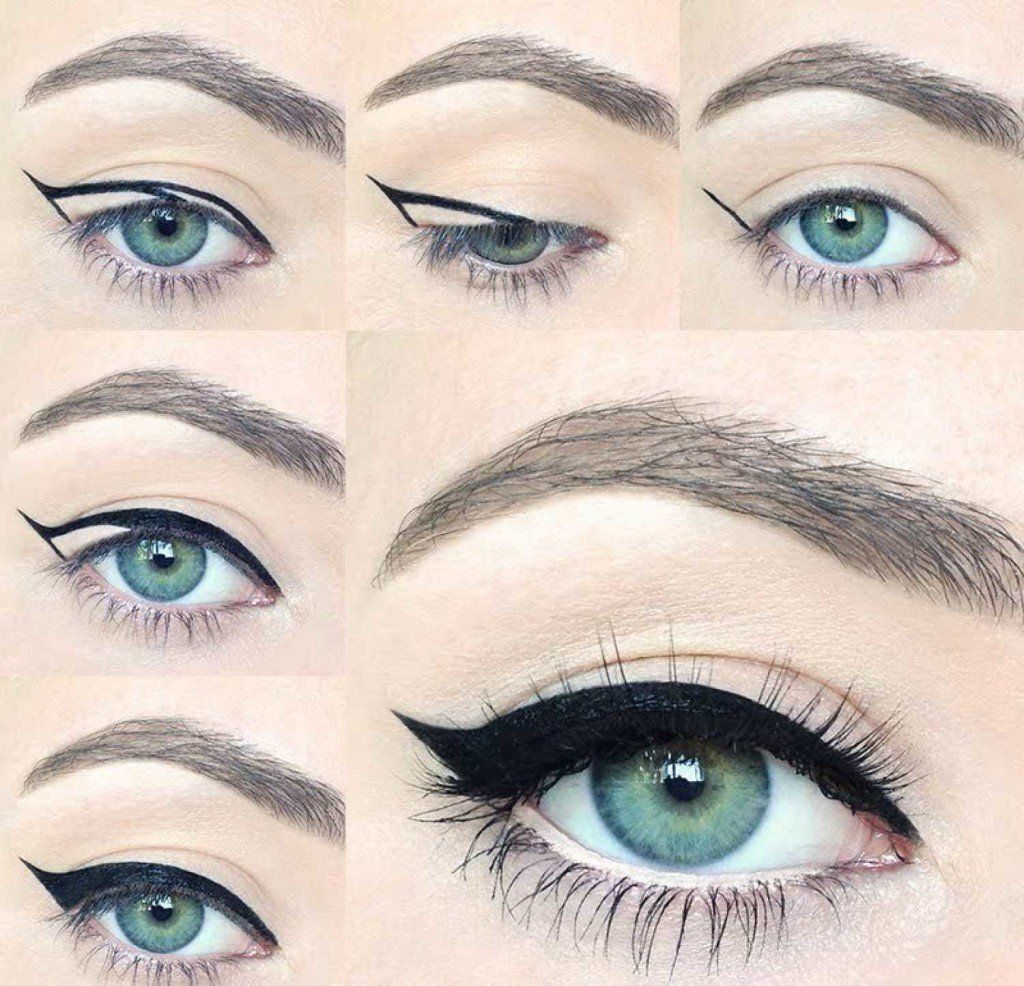 how to create cat eyes with eyeliner