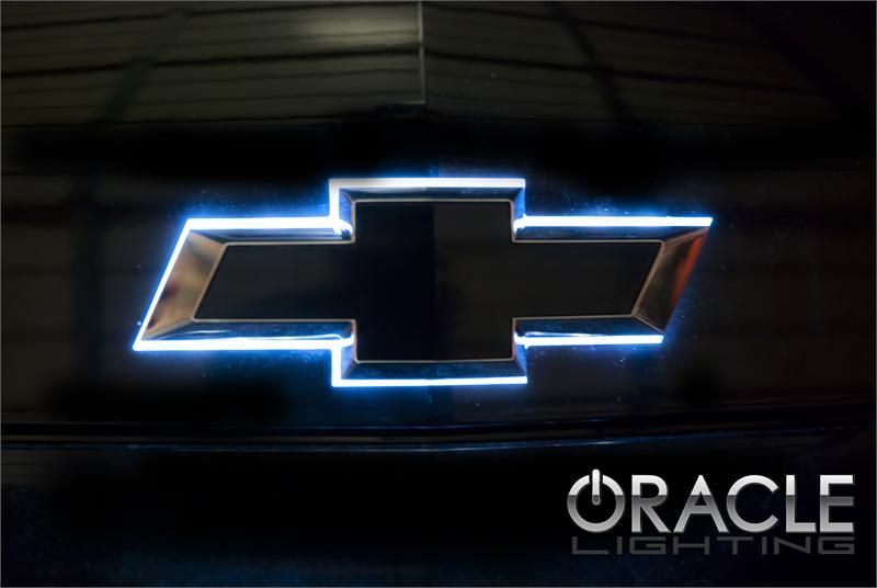 Chevy Illuminated LED Rear Bowtie ... the color shift ...