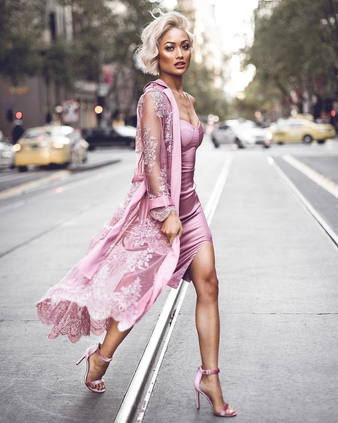 All Pink Everything: MICAH GIANNELI All Pink Everything... Dress & Duster From
