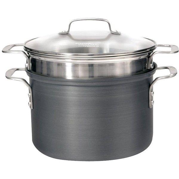 Calphalon Kitchen Essentials 8qt Hard Anodized Pasta Pot Set ...