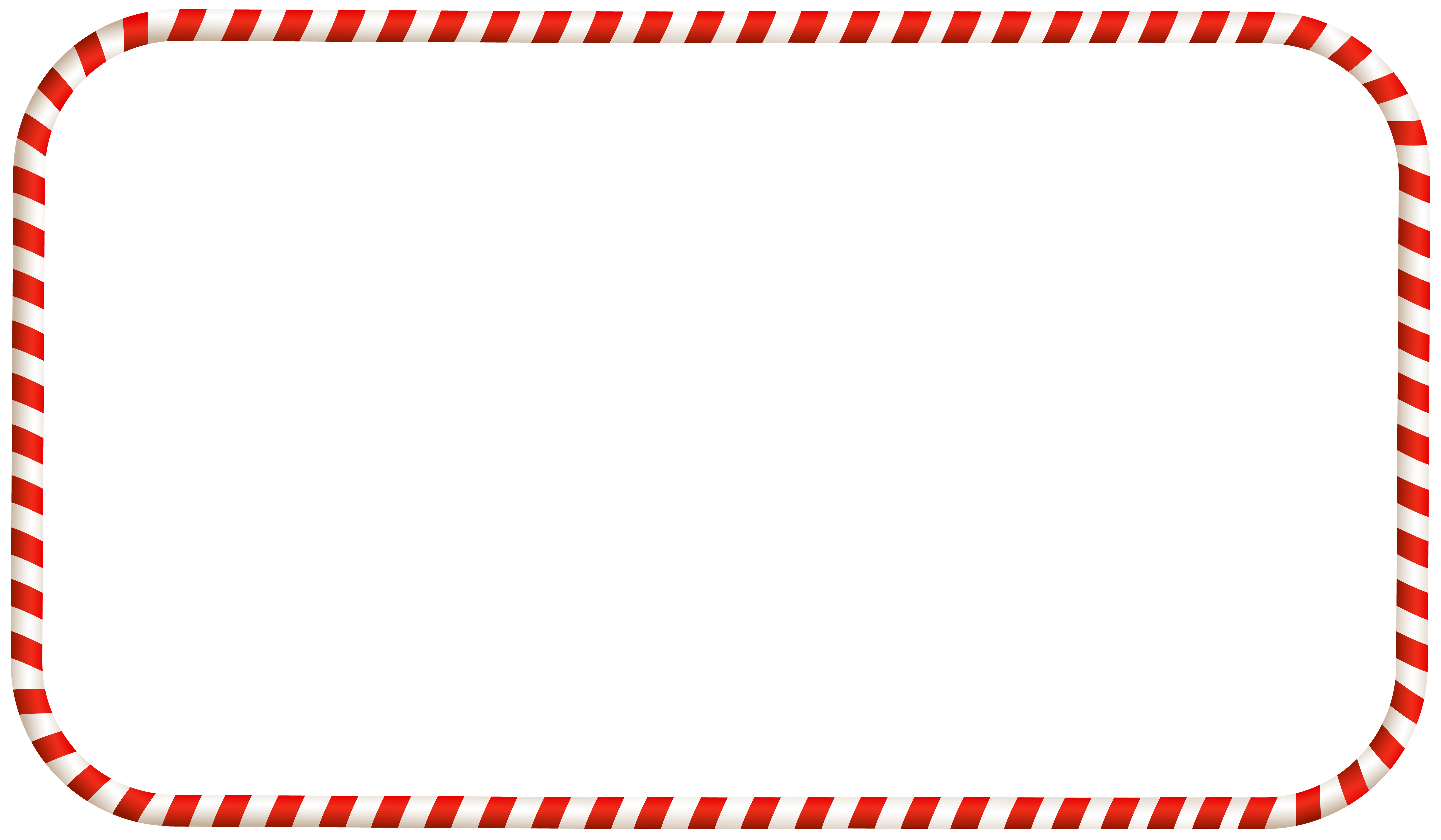 Christmas Candy Frame Transparent PNG Clip Art Clipart