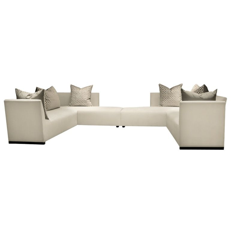 Island U Sectional Large Contemporary Upholstery Fabric Metal