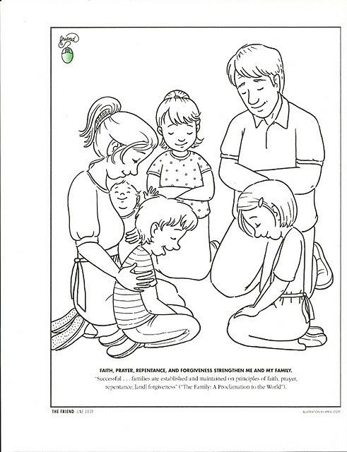 Cute Prayer Coloring Page | LDS Children\'s coloring pages ...