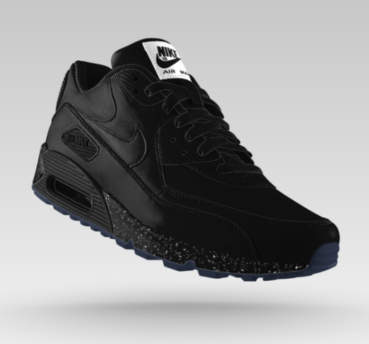 nike air max 90 premium id black