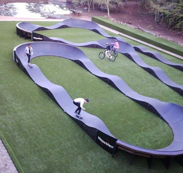 Skating The Pump Track. (With Images)