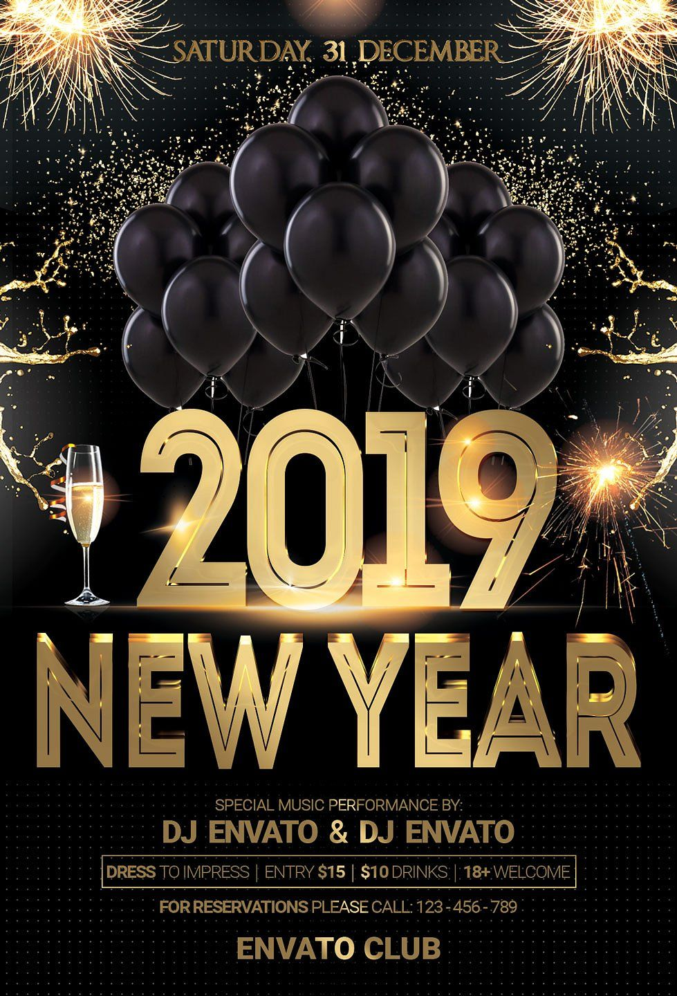 New Year Party Flyer New Year S Eve Flyer Party Flyer New Years Party