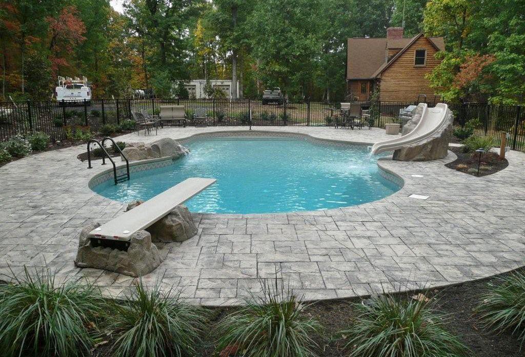 Aqua pros pools lynchburg va slide diving board for Pool design virginia