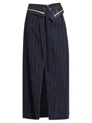 Pinstriped midi wrap skirt | Sies Marjan | MATCHESFASHION.COM