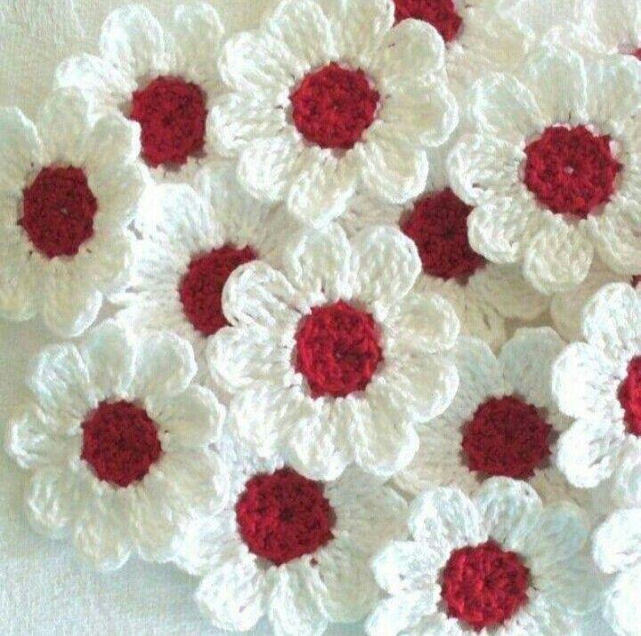 Crochet flowers   carpetadeflores   Pinterest   Flores, Tejido y ...