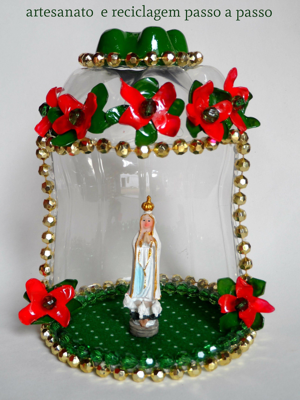 Armario Com Espelho Para Banheiro Na Leroy Merlin ~ ORATÓRIO DE GARRAFA PET Decoraç u00e3o Pinterest Oratório, Garrafas pet e Necessária