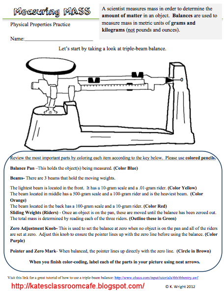 picture relating to Triple Beam Balance Worksheet Printable known as Pin upon For College