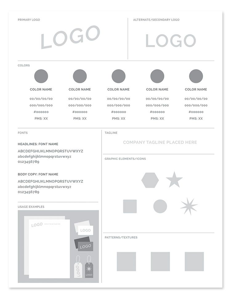 Freebie Brand Style Guide Template Brand style guide, Template