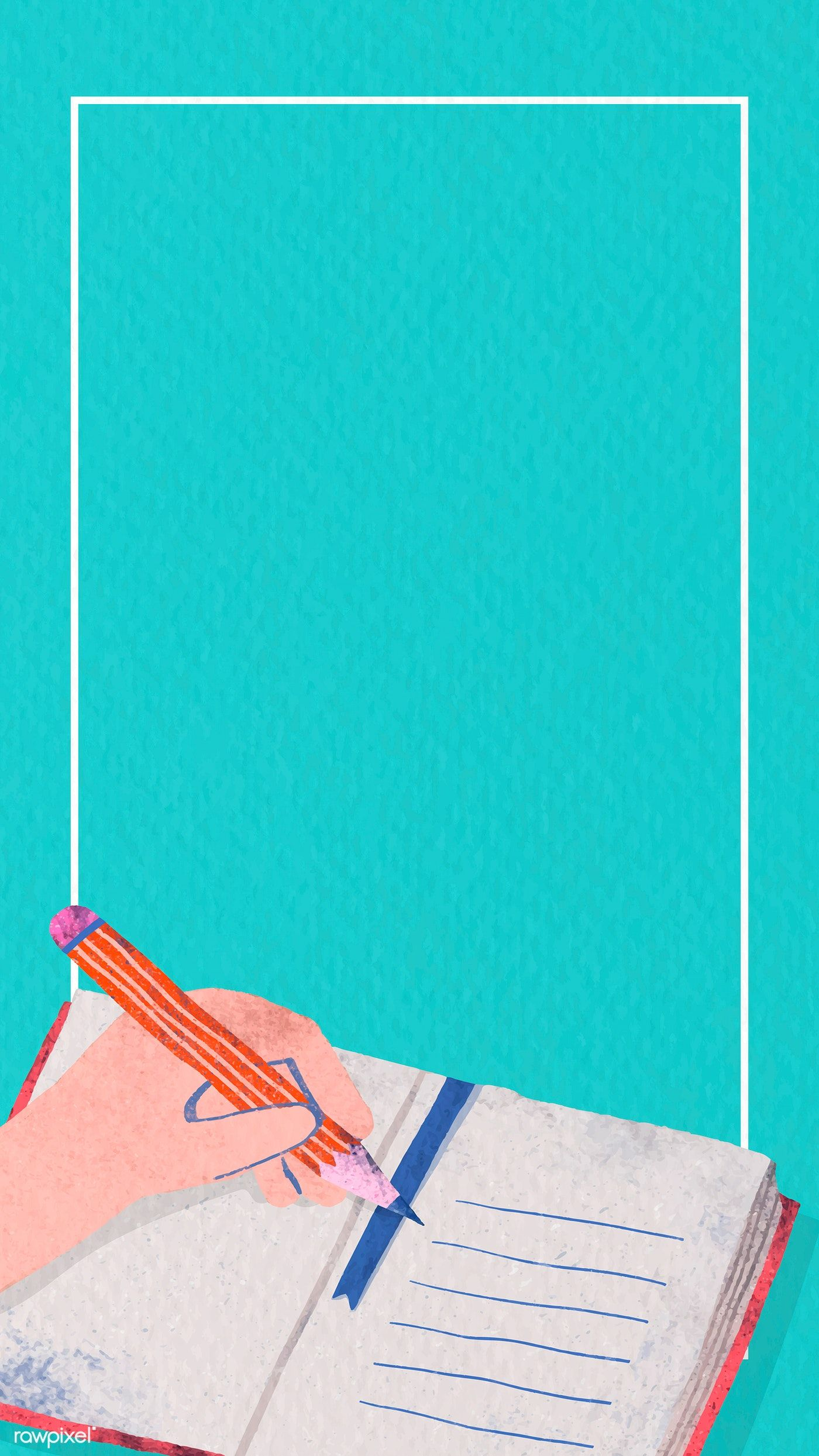 Download Premium Vector Of Rectangle Back To School Frame Mobile Phone School Frame Back To School Wallpaper Powerpoint Background Design