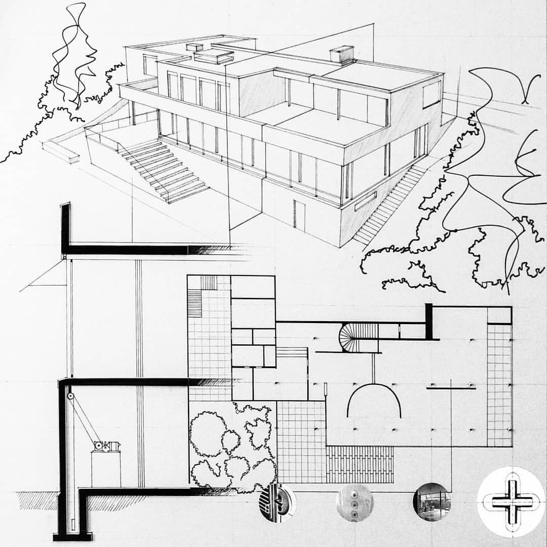 Hand Made Poster About Vila Tugendhat In Brno Czech Republic By Ludwig Mies Van Der Rohe Project Assignment Ludwig Mies Van Der Rohe Mies Van Der Rohe Mies