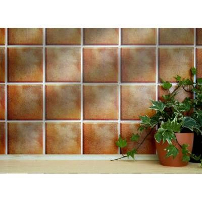 Self Adhesive Wall Tiles For Kitchens And Bathrooms Terracotta Bevel 4 X 4 Tiles 10cm X 10cm Self Adhesive Wall Tiles Tiles Wall Tiles
