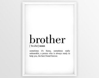 Because I have a brother I will always have a friend Framed Wood Sign Brother/'s Room Decor  Boy/'s Wall Art