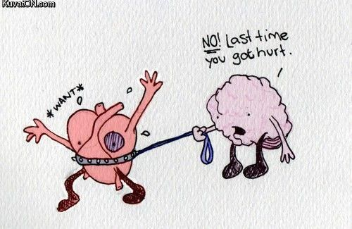 What your heart says... vs what your brain says.