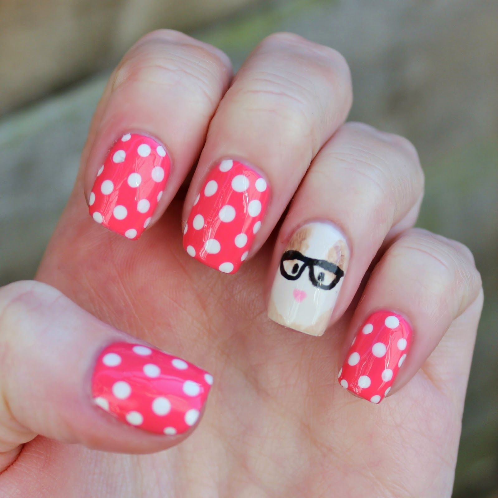 Zoella Beauty Guinea In Glasses | Nails Animals Pigs | Pinterest ...