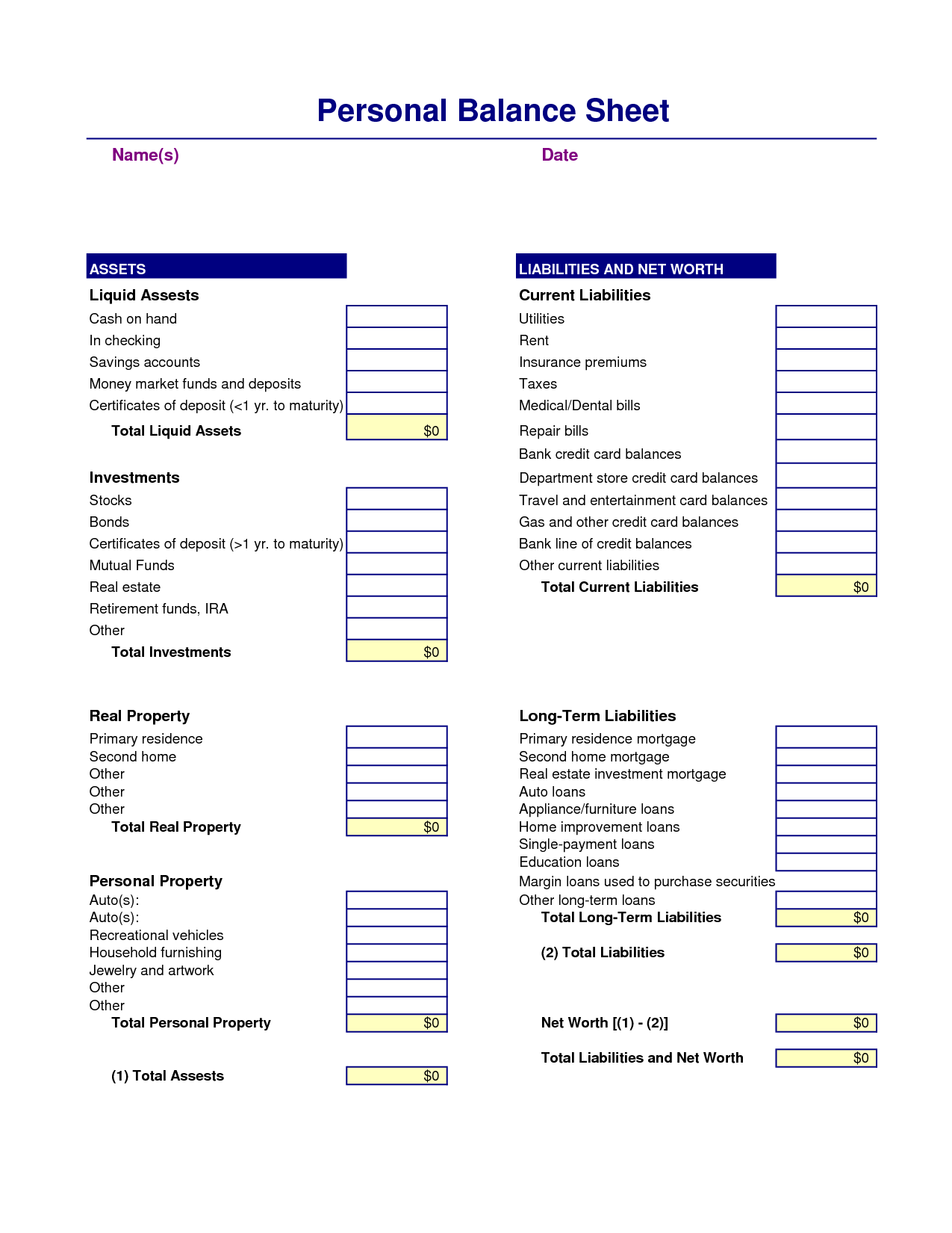 New Free Business Financial Statement Template Xlstemplate