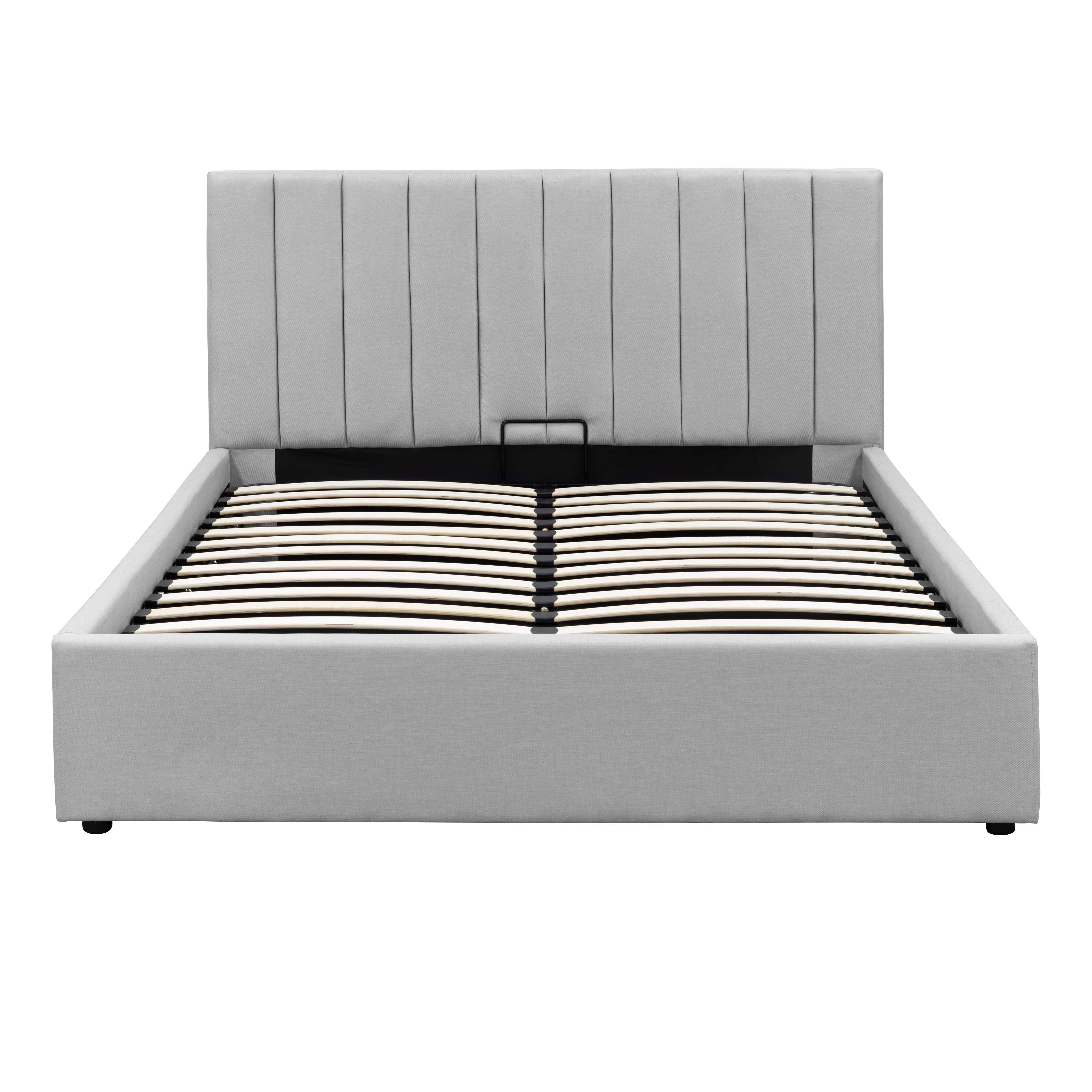 Audrey Queen Storage Bed Silver Fox Fabric King Storage Bed