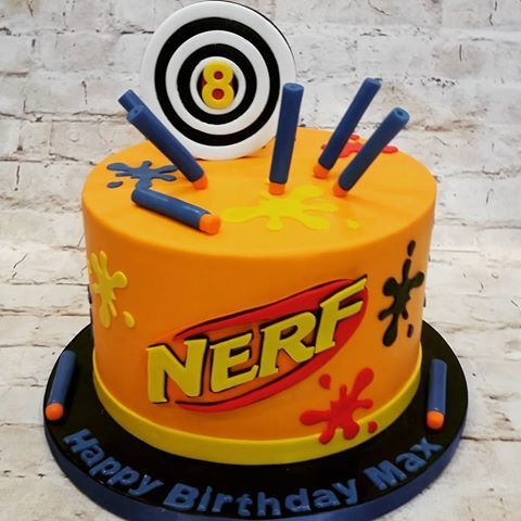 Superb Pin On Nerf Birthday Party Personalised Birthday Cards Veneteletsinfo