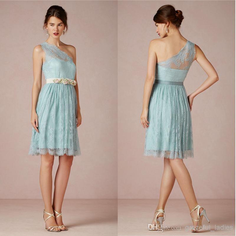 Short lace bridesmaid dresses cheap