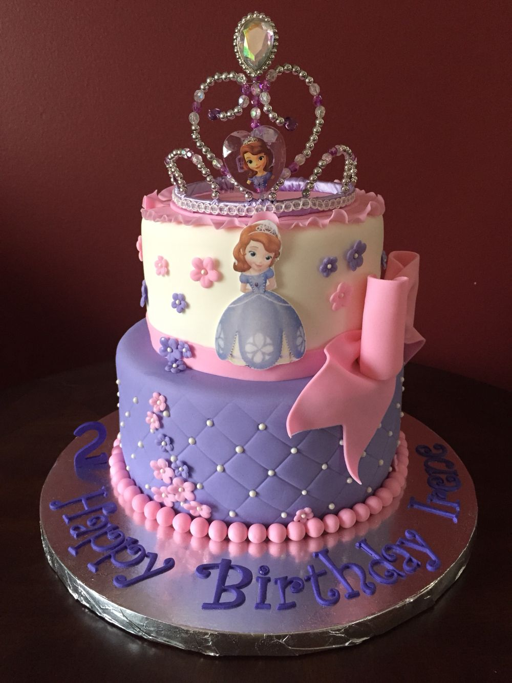 Sofia the First Birthday Cake Birthday Cakes Pinterest