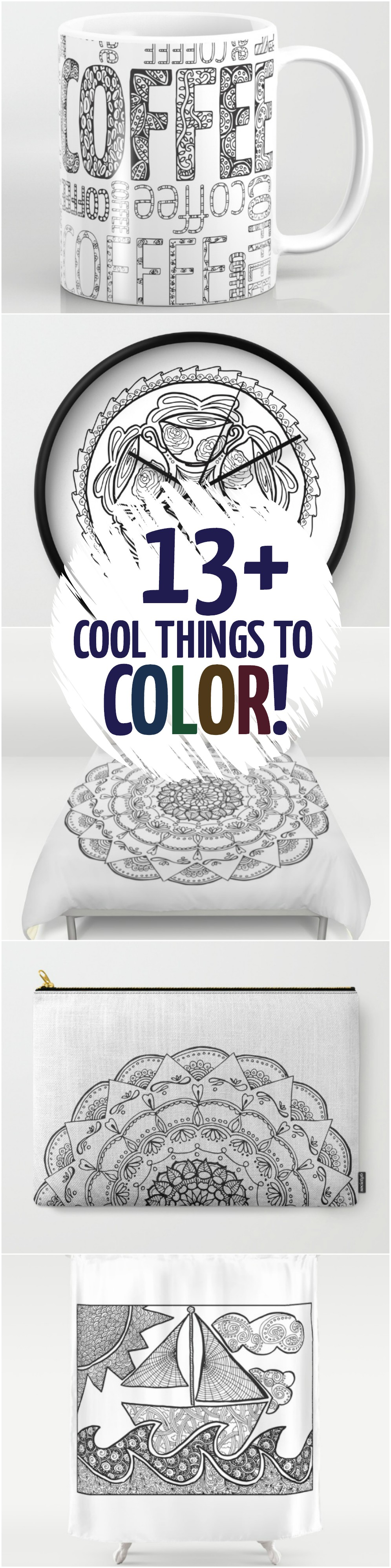 13 Cool Things To Color That Aren T Coloring Pages Art Ideas For Teens Coloring Pages Doodle Coloring