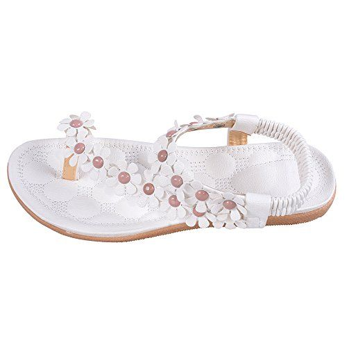 Hee Grand Sweet Flower Thong Sandals US 6 White >>> Read more  at the image link. (This is an Amazon affiliate link)