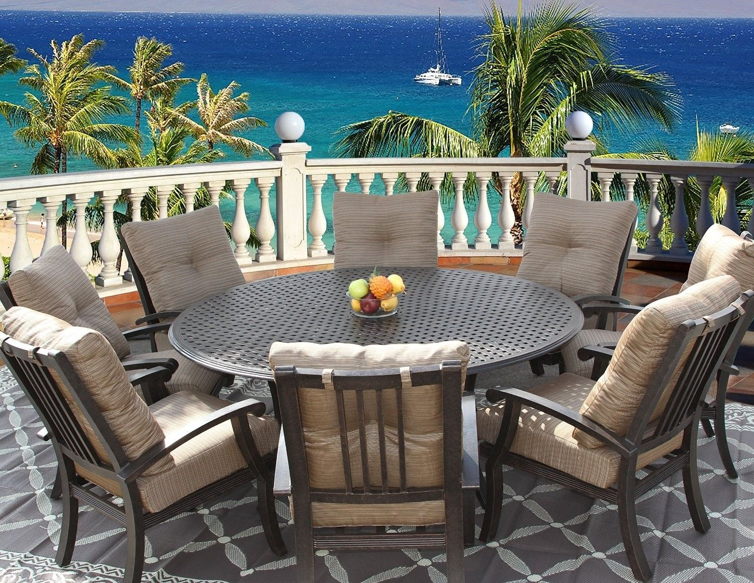 8 Person Round Outdoor Dining Table Round Outdoor Dining Table