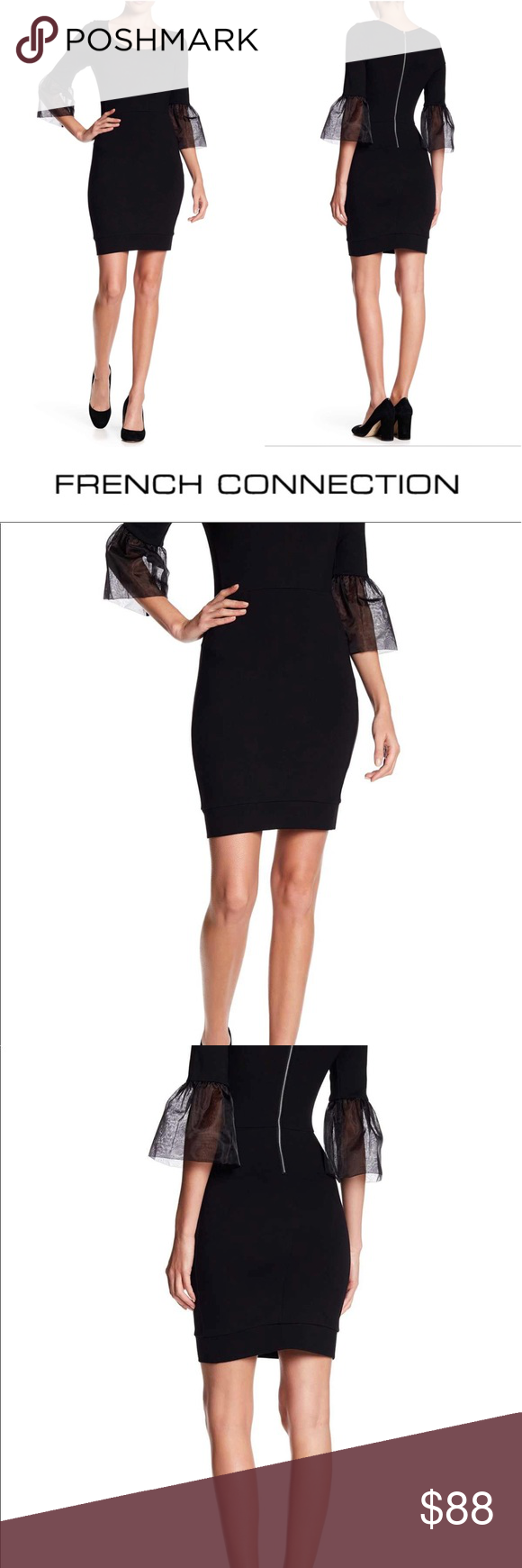3100838e186 French Connection Lula Bell Sleeve Dress - Black French Connection Lula Bell  Is a classic little