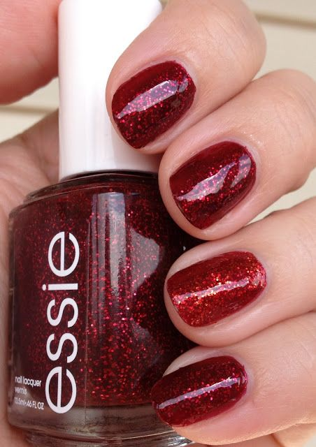 polish insomniac: Essie Leading Lady vs. Ruby Slippers (WW)