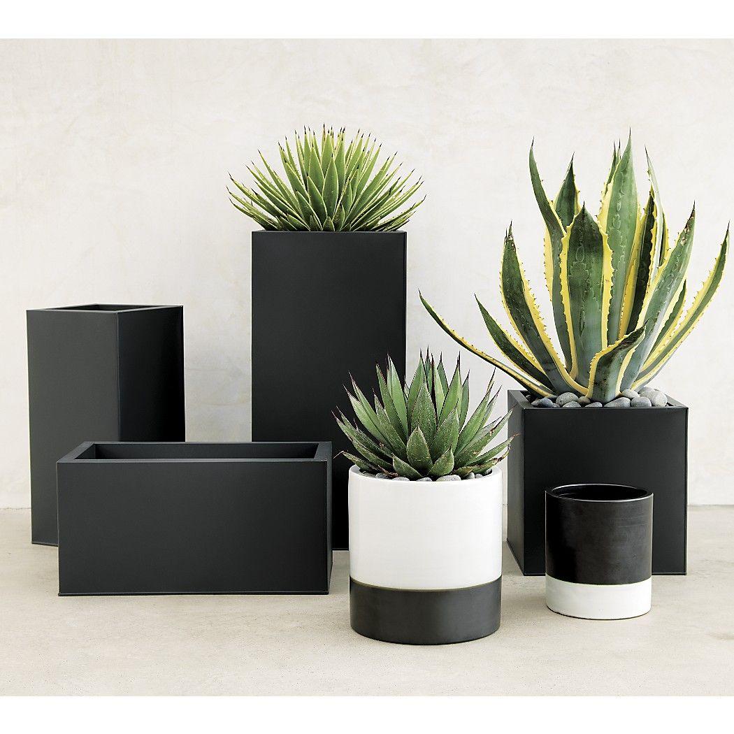 Blox Tall Galvanized Planters In 2020 Rectangular 400 x 300