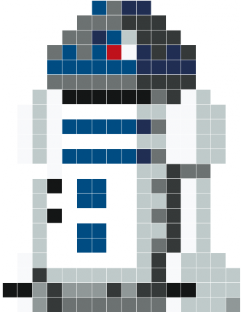 R2d2 Pixel Art Stickaz Could Use As A Crochet Template