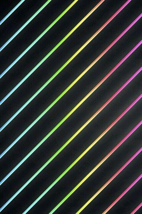 Black And Neon Rainbow Striped Wallpaper Neon Wallpaper Backgrounds Phone Wallpapers Rainbow Wallpaper Black wallpaper tumblr neon rainbow