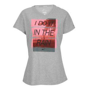 b26f0d793323 Nike Dri-Fit Cotton Runners Attitude T-Shirt - Womens - Dark Grey Heather