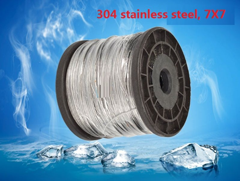 1mm 1 2mm 1 5mm 50m 7x7 304 Stainless Steel Wire Rope Softer Fishing Cable Clothesline Traction Rope Lift Clothes Line Stainless Steel Wire Stainless Steel