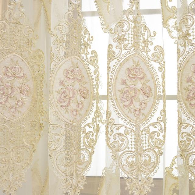 Nowoczesne Tulle Europejskiej Luksusowe Zasłony Zasłony