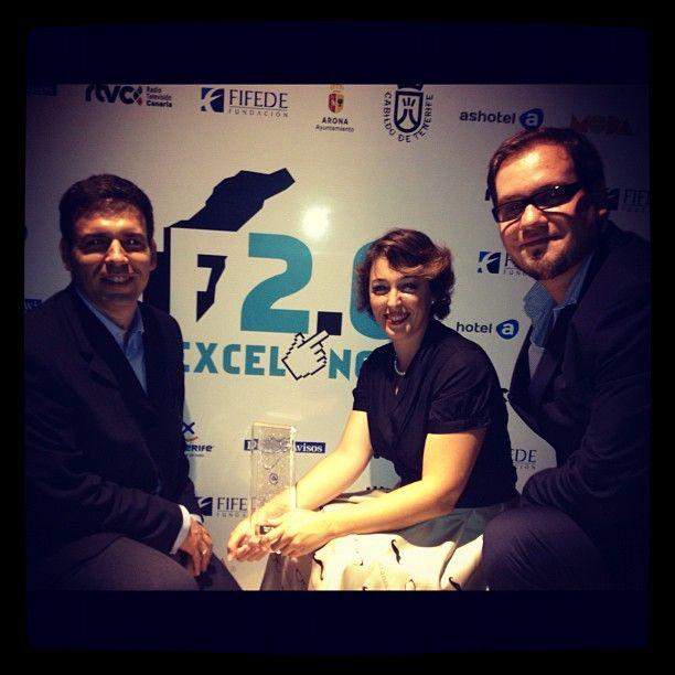 Photo by brandia_tv El trofeo mejor empresa innovadora