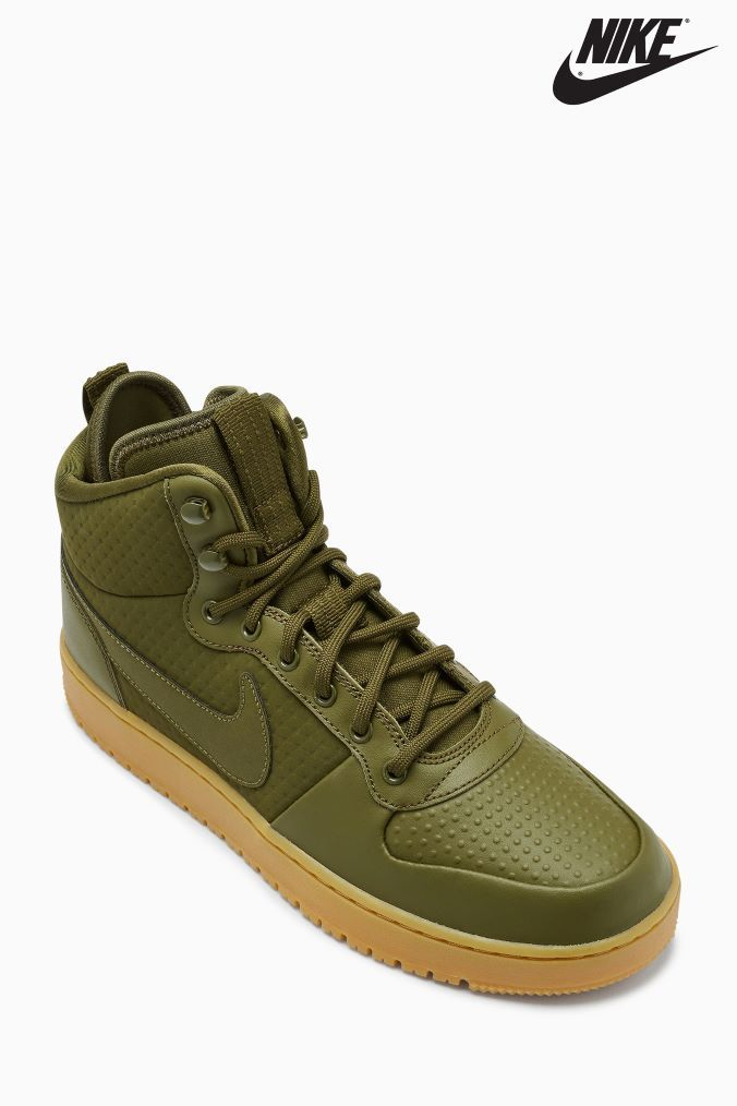 margen cien inyectar  Mens Nike Ebernon Mid - Green | Nike high tops, Classic shoes, Nike men