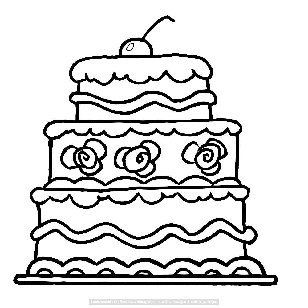 de kers op de taart met afbeeldingen kleurplaten