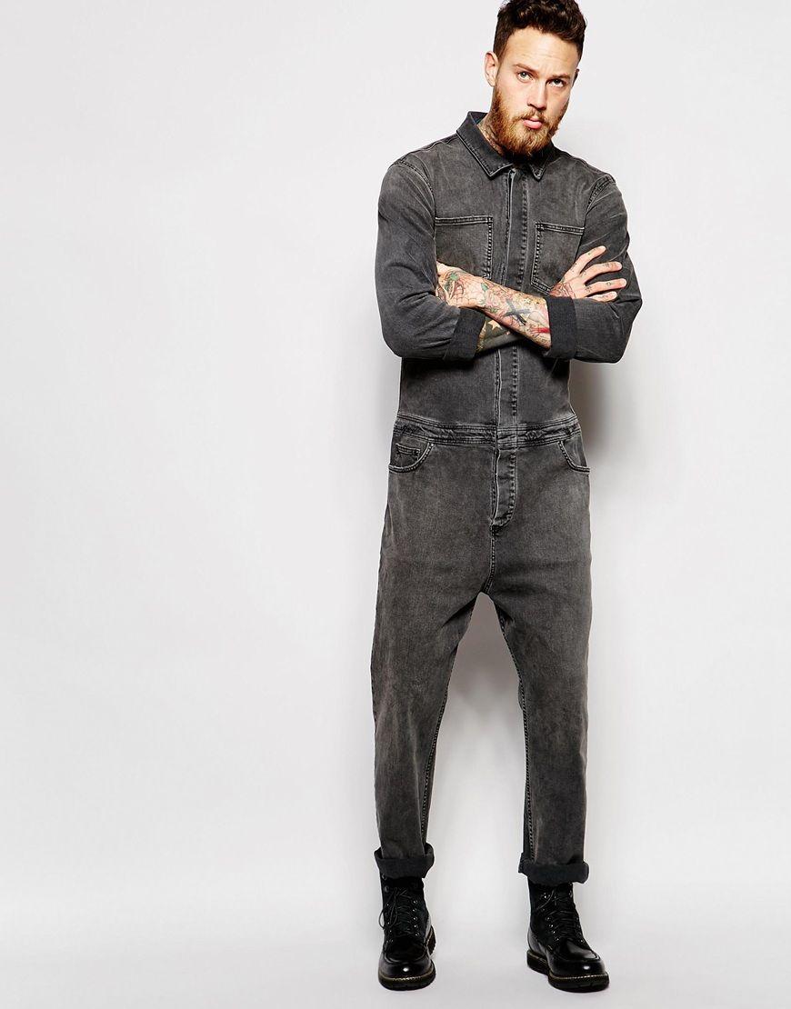 9bc825809b944 Boiler Suit In Denim Washed Black   Serge atangana   Boiler suit ...