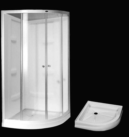 Tribeca 38 Inch Sliding Shower Door With Base And Walls Corner
