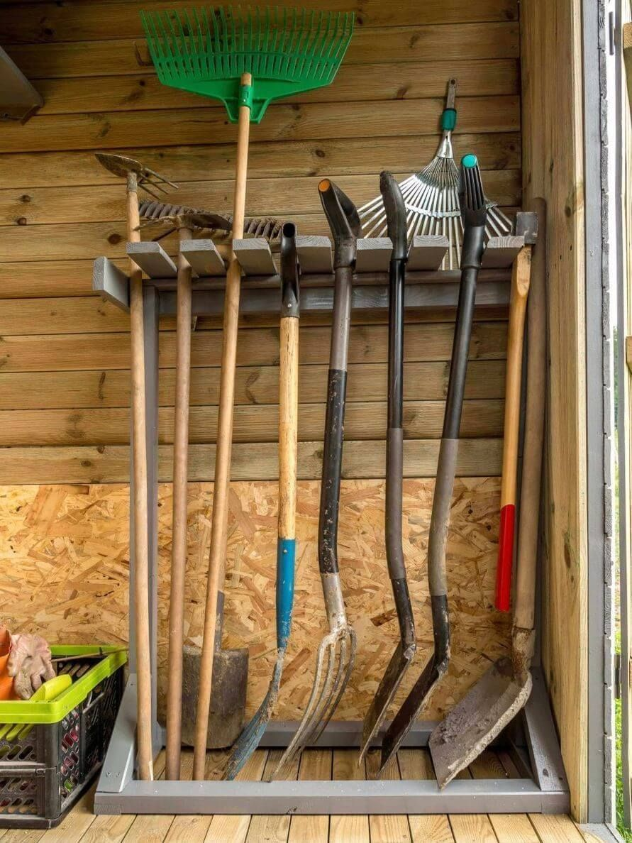 40+ Ideas for hanging shovels and rakes ideas
