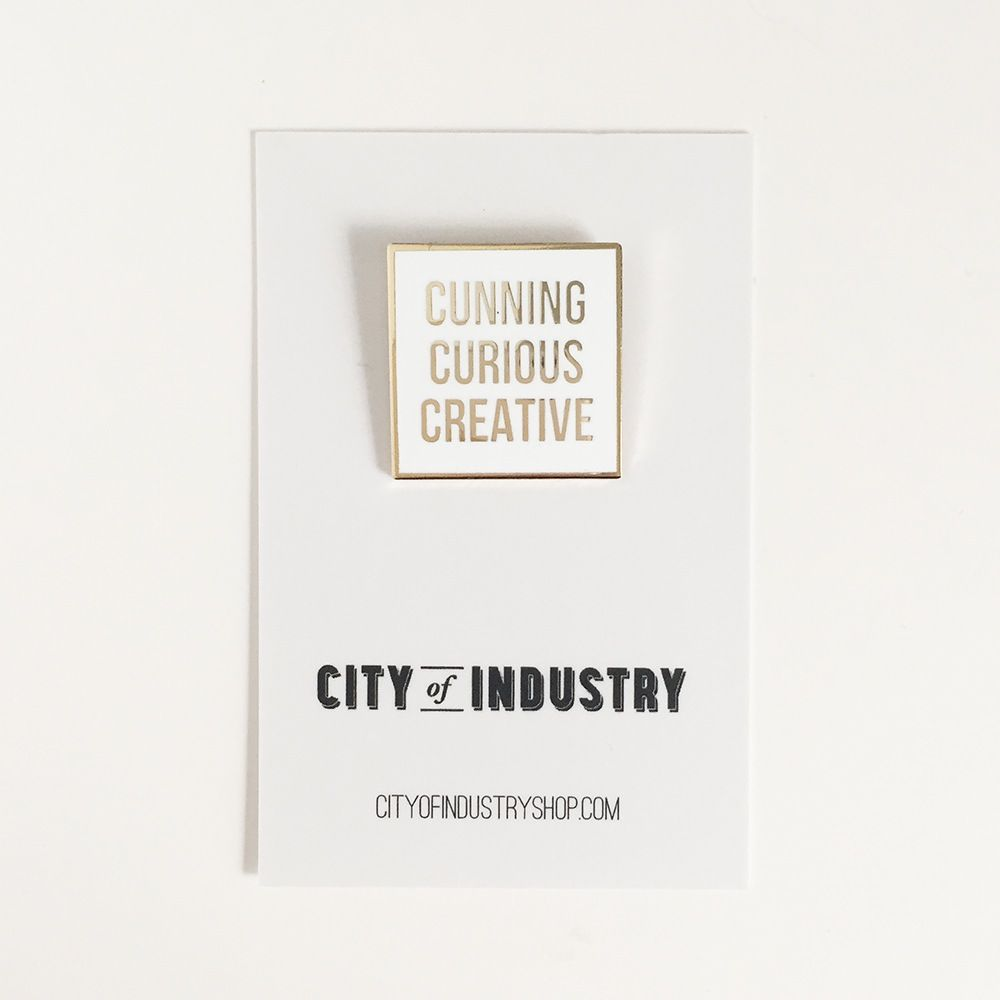 Image of Cunning Curious Creative Pin