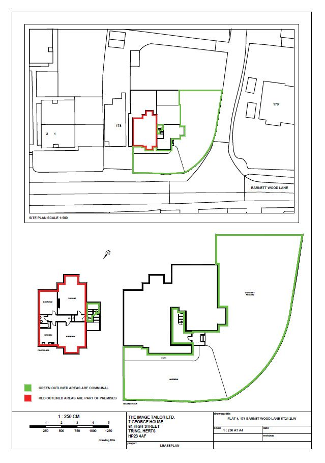 Lease plan for a flat within a large residential property with - residential lease