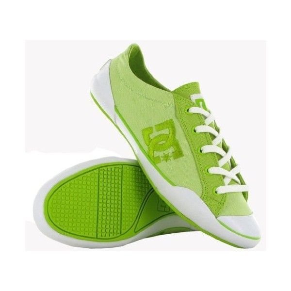 Dc Chelsea Zero Low SE Lime Womens Trainers ($42) ❤ liked on Polyvore